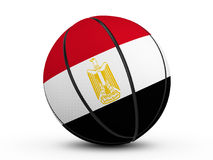 Basketball ball Egypt flag Royalty Free Stock Photography
