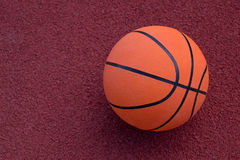 Basketball ball on the field Royalty Free Stock Image