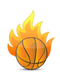 Basketball Ball in fire Royalty Free Stock Image