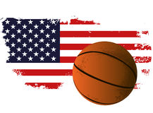 Basketball ball flag Royalty Free Stock Image
