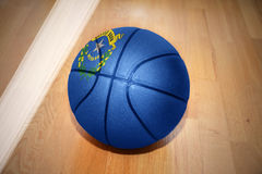 Basketball ball with the flag of nevada state Royalty Free Stock Photos