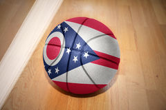 Basketball ball with the flag of ohio state royalty free stock image