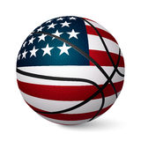 Basketball ball flag of USA isolated on white background Stock Photos