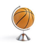 Basketball ball globe Stock Photos