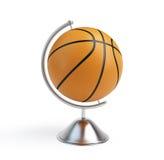 Basketball ball globe. On a white background Stock Photos
