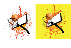 Basketball ball and hoop Royalty Free Stock Photos
