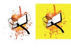 Basketball ball and hoop stock illustration