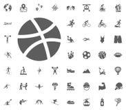 Basketball ball icon. Sport illustration vector set icons. Set of 48 sport icons. Basketball ball icon. Sport illustration vector set icons. Set of 48 sport Stock Image