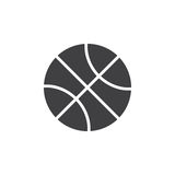 Basketball ball icon vector, filled flat sign royalty free illustration