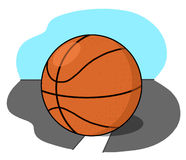 Basketball ball illustration Stock Photos