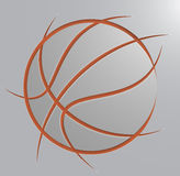 Basketball ball. Image of a basketball ball. Transparency and blend effects used. All shadows and elements are grouped and their transparency can be easily Royalty Free Stock Image