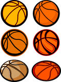 Basketball Ball Images. Assorted Illustrated Basketball Ball Images Stock Photos