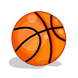 Basketball ball isolated illustration Royalty Free Stock Photos