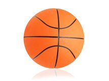 Basketball ball isolated on white Royalty Free Stock Photo