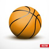 Basketball ball isolated on a white background Royalty Free Stock Photos
