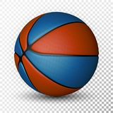 Basketball ball isolated on a white background. Realistic Vector Illustration.  royalty free illustration