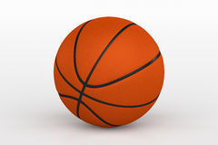 Basketball Ball Isolated on White, 3D Rendering. 3D rendering of basketball ball isolated on white background Stock Image