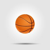 Basketball ball isolated on white with shadow Stock Image
