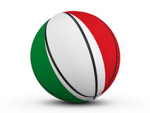Basketball ball Italy flag Royalty Free Stock Photography