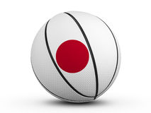 Basketball ball Japan flag Stock Photography