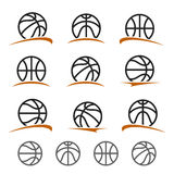 Basketball ball labels and icons set. Vector Stock Photography
