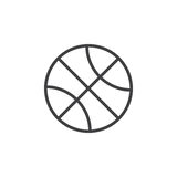 Basketball ball line icon, outline vector sign Royalty Free Stock Photography