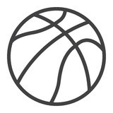 Basketball ball line icon, sport and game royalty free illustration