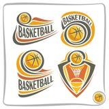 Basketball-Ball Logo des Vektors abstrakter Lizenzfreie Stockfotos