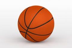 Basketball-Ball lokalisiert auf Weiß, Wiedergabe 3D Stockbild