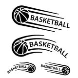 Basketball ball motion line symbol Royalty Free Stock Images