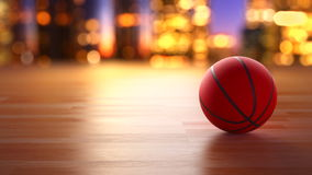 Basketball ball in motion