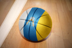 Basketball ball with the national flag of canary islands Stock Image