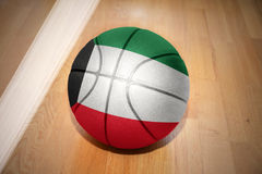 Basketball ball with the national flag of kuwait Royalty Free Stock Images