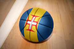 Basketball ball with the national flag of madeira Stock Images