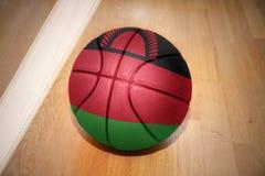 Basketball ball with the national flag of malawi Stock Photos