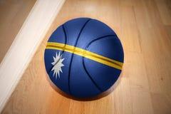 Basketball ball with the national flag of nauru Royalty Free Stock Photo