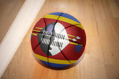 Basketball ball with the national flag of swaziland Stock Image