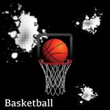 Basketball ball net hoop. Clean vector that can be used for any design Royalty Free Stock Photos
