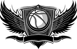 Basketball Ball Ornate Graphic Template Royalty Free Stock Photos