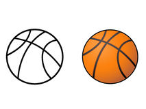 Basketball, ball outline vector. Basketball, ball outline vector from white background Royalty Free Stock Photo