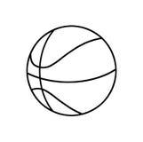 Basketball ball outline Royalty Free Stock Photography