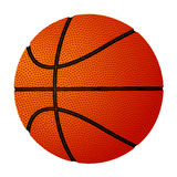 Basketball ball over white background. Vector Royalty Free Stock Images