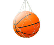 Basketball ball over white isolated background with clipping pat Royalty Free Stock Photography