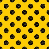 Basketball ball pattern vector. Basketball ball pattern seamless vector repeat geometric yellow for any design stock illustration