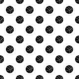Basketball ball pattern vector. Basketball ball pattern seamless in simple style vector illustration Stock Photos