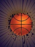 Basketball Ball on Rays Background Stock Photo