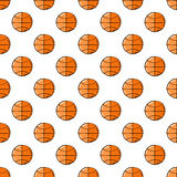 Basketball ball seamless pattern. Stock Photos