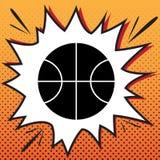 Basketball ball sign illustration. Vector. Comics style icon on stock illustration