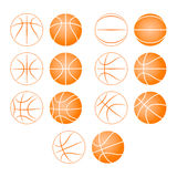 Basketball, ball silhouette Stock Images