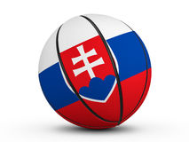 Basketball ball Slovakia flag Stock Photos